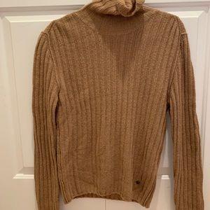 Gucci 100% Camel wool turtleneck sweater